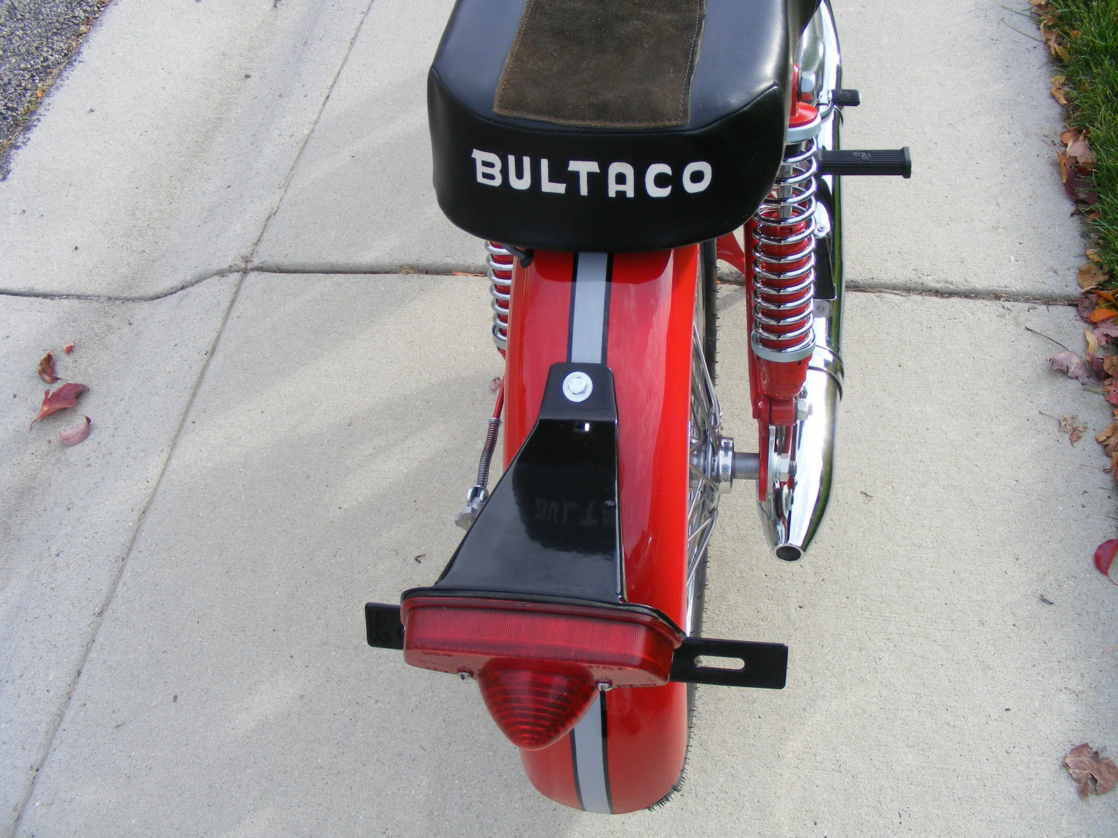 Bultaco Mercurio - 1966 - Rear Light and Fender.