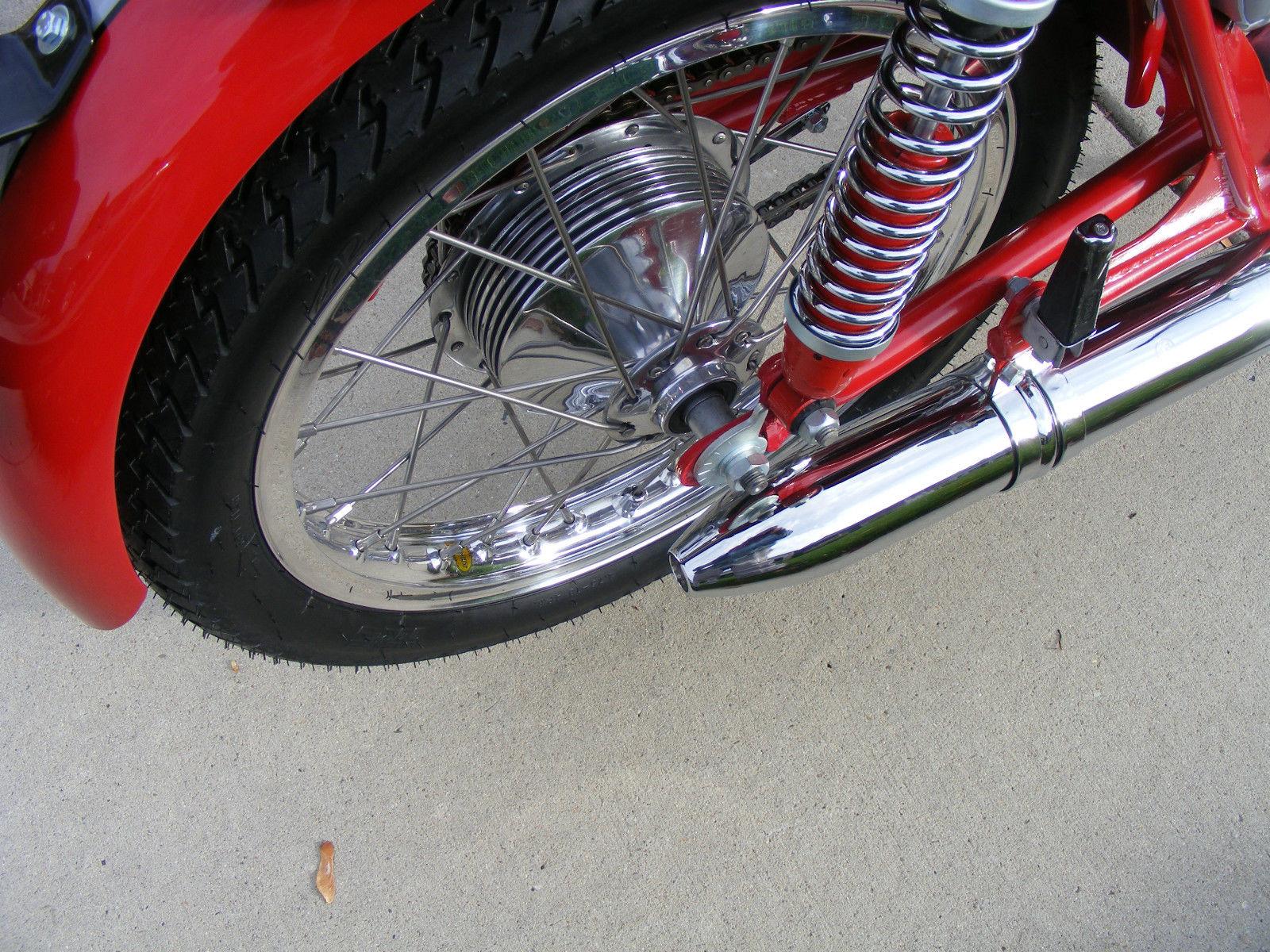 Bultaco Mercurio - 1966 - Rear Wheel, Rear Shock Absorber and Swing Arm.