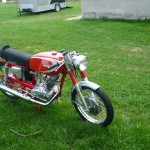 Ducati Mach 1 - 1965 - Frame and Forks, Front Wheel, Fenders and Front Brake.
