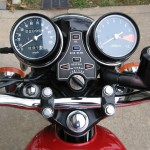 Honda 400 Four - 1976 - Clocks, Speedo and Tacho, Ignition Switch and Warning Lights.
