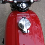Honda 400 Four - 1976 - Petrol Tank, Petrol Cap and Tank Warning Decal.