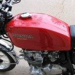Honda 400 Four - 1976 - Gas Tank, Gas Cap, Honda Decal and Engine.