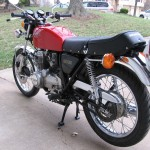 Honda 400 Four - 1976 - Fuel Tank, NOS Seat, Chain Adjusters and Rear Light.