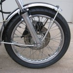 Honda 400 Four - 1976 - Front Wheel, Brake Disc, Front Fender and Forks.