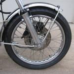 Honda 400 Four - 1976 - Front Wheel, Brake Disc, Front Fender and Forks.