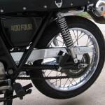 Honda 400 Four - 1976 - Swing Arm, Chain Guard, Chain and Sprockets.