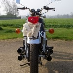 Honda CB500 Four - 1971 - Indicators, Rear Mudguard, Rear Light, Handlebars and Number Plate.