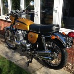 Honda CB750 K1 - 1970 - Shock Absorbers, Rear Wheel, Rear Fender, Light and Number Plate.