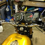 Honda CB750 K1 - 1970 - Tank, Handlebars, Clocks, Petrol Cap, Speedo and Tacho.