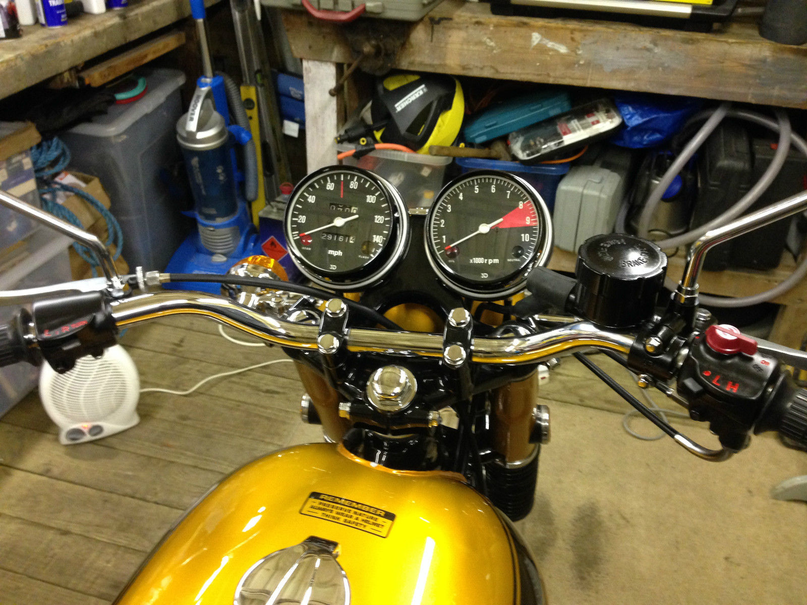 Honda CB750 K1 - 1970 - Tank, Handlebars, Clocks, Petrol Cap, Speedo and Tacho.