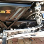 Honda CBX - 1979 - Side Panel, Chain Guard, Shock Absorber, Rear Footrest and Exhaust.