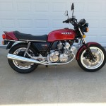 Honda CBX - 1979 - Right Side View, Exhaust, Muffler, Gas Tank, Seat and Frame.