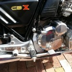 Honda CBX - 1979 - Footrest Plate, Rear Brake Lever, Clutch Cover and CBX Badge.
