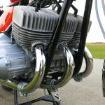 Kawasaki H1C 500 - 1972 - Engine and Gearbox, Engine Cases. Cylinder Heads and Exhausts.