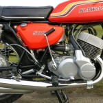 Kawasaki H1C 500 - 1972 - Kick Start, Brake Pedal, Foot Rest, Petrol Tank and Carburettors.