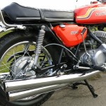 Kawasaki H1C 500 - 1972 - Exhausts, Rear Brake Arm, Brake Cable, Oil Tank and Side Panel.