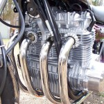 Kawasaki Z1 - 1975 - Engine and Gearbox, Frame Down Tubes, Engines cases and Headers.