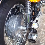 Kawasaki Z1 - 1975 - Chain Adjusters, Swing Arm and Exhausts.