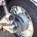 Kawasaki Z1 - 1975 - Rear Wheel, Rear Hub, Mufflers, Chain and Shock.
