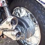 Kawasaki Z1 - 1975 - Rear Wheel, Rear Hub, Mufflers, Chain and Shock.