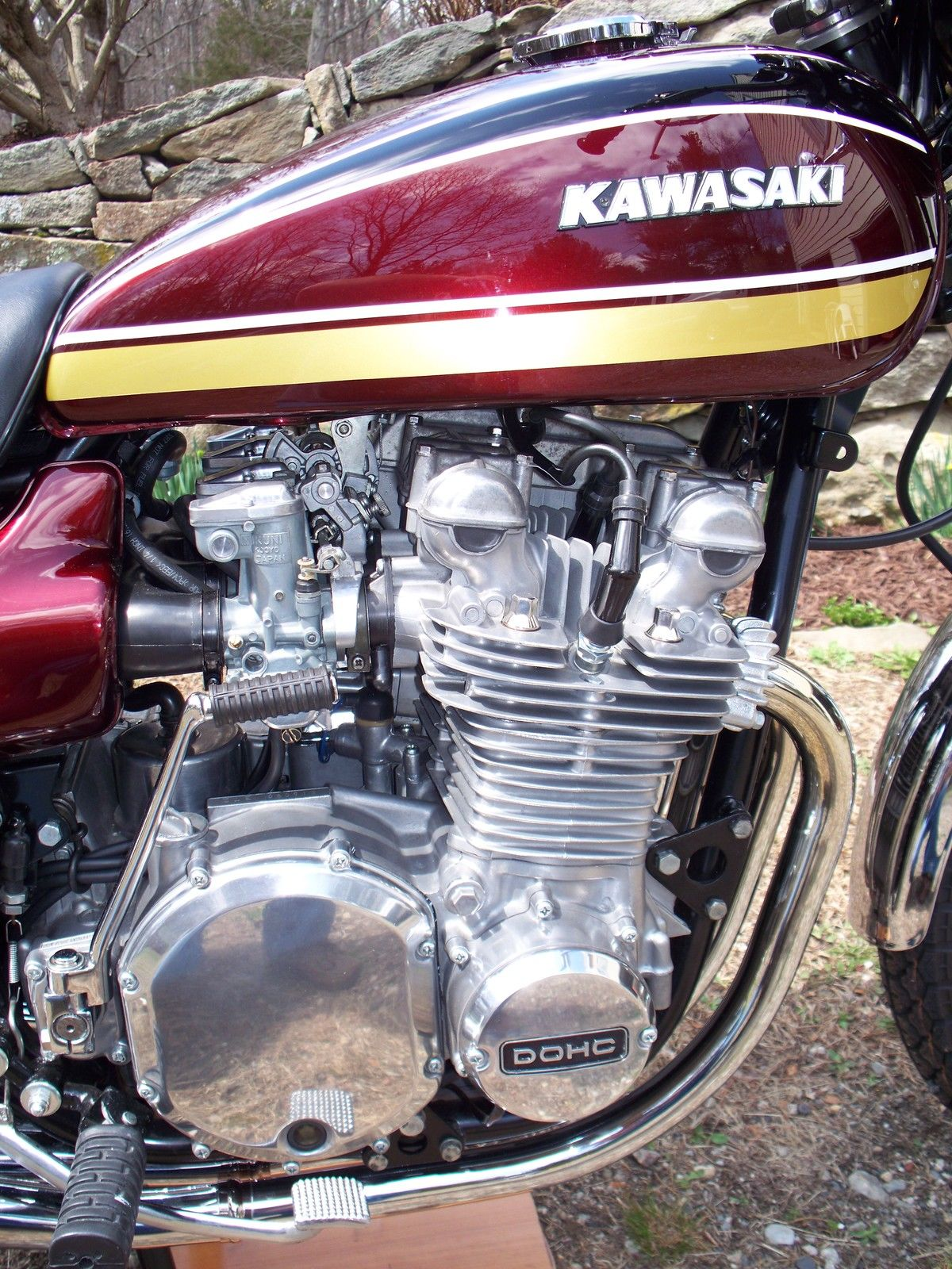 Kawasaki Z1 - 1975 - Kick Start, Clutch Cover, Points Cover, Cam Cover and Airbox.