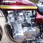 Kawasaki Z1 - 1975 - Carburettors, Kawasaki Badge, Alternator Cover, Sprocket Cover, Fuel Tap and Gear Change.
