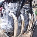 Kawasaki Z1 - 1975 - Motor and Transmission, Exhausts, Cylinder Head and Plug Caps.