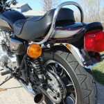 Kawasaki Z1000 LTD - 1980 - Rear Wheel, Rear Fender, Mudguard, Grab Rail, Tail Piece and Muffler.
