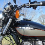 Kawasaki Z1000 LTD - 1980 - Kawasaki Badge, Fuel Tank, Indicator, Handlebars and Clutch Lever.