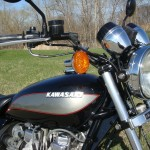 Kawasaki Z1000 LTD - 1980 - Chrome Gauge Covers, Headlight, Brake Master Cylinder, Forks and Frame.