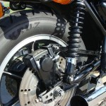 Kawasaki Z1000 LTD - 1980 - Brake Disc, Rotor, Brake Calliper, Chain Adjuster and Swing Arm.