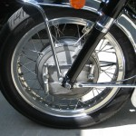 Moto Guzzi California - 1974 - Leading Shoe Front Brake, Wheel Rim, Spokes, Forks and Fender.