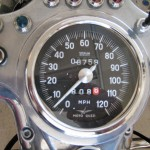 Moto Guzzi California - 1974 - Clock, Speedo, Mileage and Lights.