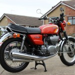 Suzuki GT380 - 1973 - Reflectors, Rear Wheel, Hub, Rear Brake, Rear Fender and Seat Cover.