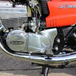 Suzuki GT380 - 1973 - Engine and Gearbox, Carburettors, Alternator Cover, Gear Lever, Two Stroke Triple.