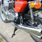 Suzuki GT380 - 1973 - Shock Absorber, Chain Guard, Footrest, Chain Case and Indicator.