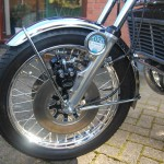 Suzuki GT750 - 1976 - Front Wheel, Brake Calipers, Front Mudguard and Hoses.