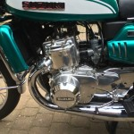 Suzuki GT750J - 1972 - Engine and Gearbox, 750cc Water Cooled Two Stroke, Three Cylinder.
