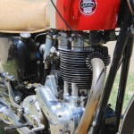 Ariel HS - 1957 - Pushrod Tubes, Cylinder Head, Exhaust Pipe and Frame.