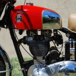 Ariel HS - 1957 - Chrome Tank, Battery and Primary Chain Cover.
