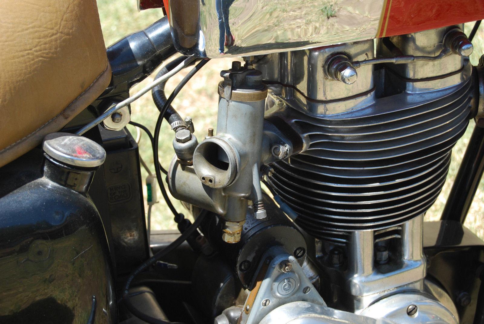 Ariel HS - 1957 - Carburettor, Slide, Choke, Jets and Float.
