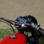 Ariel HS - 1957 - Speedo, Clock, Handlebars and Choke.