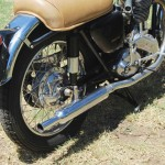 Ariel HS - 1957 - Rear Wheel, Muffler and Fender.