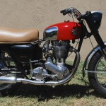 Ariel HS - 1957 - Right Sire View, Frame and Forks, Engine and Gearbox.