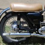 Ariel HS - 1957 - Seat, Shock Absorber, Swing Arm and Rear Wheel.