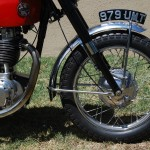 Ariel HS - 1957 - Front Wheel, Front Forks, Fender, Number Plate and Brake Plate.