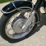 BMW R69S - 1968 - Front Mudguard, Front Wheel, Forks, Stainless Spokes and Wheel Hub.