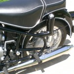 BMW R69S - 1968 - Seat, Footrest, Frame and Wheel.
