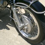 BMW R69S - 1968 - Front Wheel, Front Forks, Fender and Wheel.