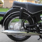 BMW R69S - 1968 - Rear Fender, Silencer, Rear Light, Shock Absorber and Shaft Drive.